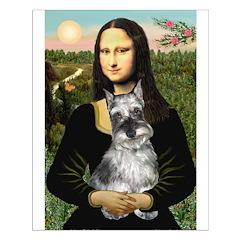 Mona Lisa's Schnauzer (#1) Small Poster