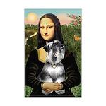 Mona Lisa's Schnauzer (#6) Mini Poster Print