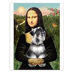 Mona Lisa's Schnauzer (#6) Small Poster