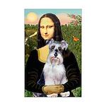 Mona Lisa/Schnauzer (#2) Mini Poster Print