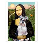 Mona Lisa/Schnauzer (#2) Small Poster