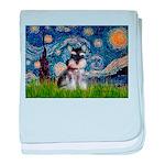 Starry / Schnauzer baby blanket
