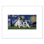 Starry Night / Min Schnauzer Small Poster