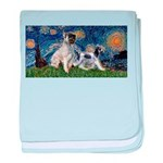 Starry Night / Min Schnauzer baby blanket