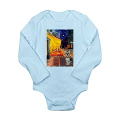 Cafe / Schnauzer (#8) Long Sleeve Infant Bodysuit