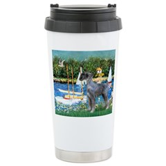 PS G. Schnauzer & Sailboats Ceramic Travel Mug