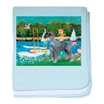 PS G. Schnauzer & Sailboats baby blanket