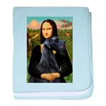 Mona Lisa /giant black Schnau baby blanket