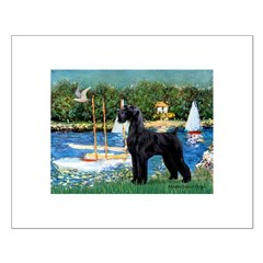SCHNAUZER & SAILBOATS Small Poster
