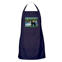SCHNAUZER & SAILBOATS Apron (dark)