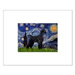 Starry Night / Schnauzer Small Poster