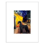 Cafe & Giant Schnauzer Small Poster