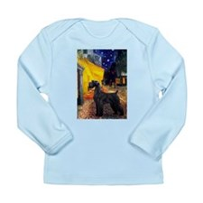 Cafe & Giant Schnauzer Long Sleeve Infant T-Shirt