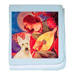 Mandolin / Scottie (w) baby blanket