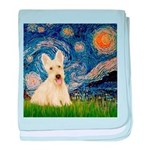 Starry Night / Scottie (w) baby blanket