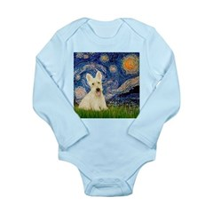 Starry Night / Scottie (w) Long Sleeve Infant Body
