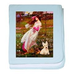 Windflowers / Scottie (w) baby blanket