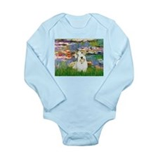 Lilies (#2)/Sealyham L2 Long Sleeve Infant Bodysui