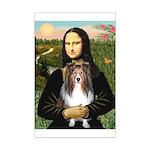 Mona Lisa's Sheltie (S) Mini Poster Print