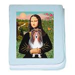 Mona Lisa's Sheltie (S) baby blanket