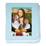 Mona Lisa / 2 Shelties (DL) baby blanket