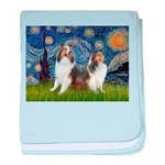 Starry / Two Shelties (D&L) baby blanket