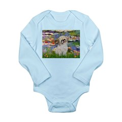 Lilies /Shih Tzu (p) Long Sleeve Infant Bodysuit