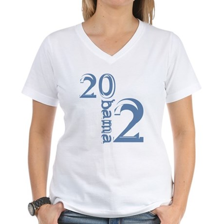 Obama 2012 Women's V-Neck T-Shirt
