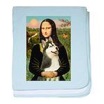 Mona Lisa & Siberian Husky baby blanket