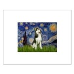 Starry Night & Husky Small Poster