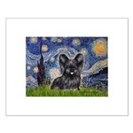Starry / Black Skye Terrier Small Poster