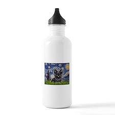 Starry / Black Skye Terrier Sports Water Bottle