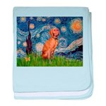 Starry Night / Vizsla baby blanket