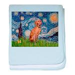 Starry Night / Vizsla baby blanket