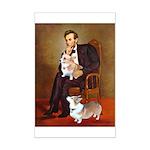 Lincoln's 2 Corgis (Pem) Mini Poster Print
