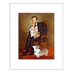 Lincoln's 2 Corgis (Pem) Small Poster