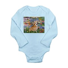 Lilies (2) & Corgi Long Sleeve Infant Bodysuit