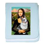 Mona's Corgi (Bl.M) baby blanket