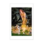 Fairies & Corgi Mini Poster Print