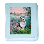 The Seine - Corgi (Bl.M) baby blanket