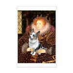 The Queen's Corgi (Bl.M) Mini Poster Print