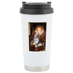 The Queen's Corgi (Bl.M) Ceramic Travel Mug
