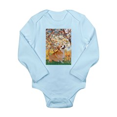 Spring / Corgi Long Sleeve Infant Bodysuit