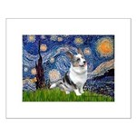 Starry Welsh Corgi (Bl.M) Small Poster