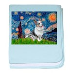 Starry Welsh Corgi (Bl.M) baby blanket