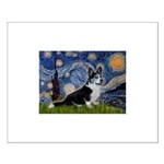 Starry Night / Welsh Corgi(bi Small Poster