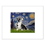 Starry Night / Welsh Corgi Small Poster