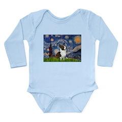 Starry Night / Welsh Corgi Long Sleeve Infant Body