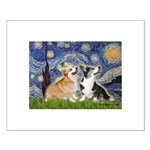 Starry Night / Corgi pair Small Poster
