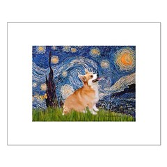 Starry Night Corgi Small Poster
